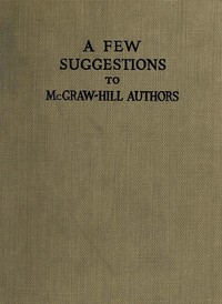 cover for book A Few Suggestions to McGraw-Hill Authors.