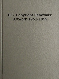 Cover of the book Copyright Renewals: Artwork 1951-1959 by U. S. Copyright Office Library of Congress