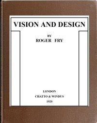 cover for book Vision and Design