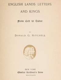 cover for book English Lands Letters and Kings: From Celt to Tudor
