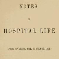cover for book Notes of hospital life from November, 1861, to August, 1863
