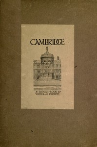 cover for book Cambridge; A Sketch Book