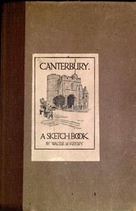 cover for book Canterbury; A Sketch Book