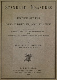 cover for book Standard Measures of United States, Great Britain and France