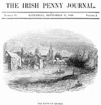 cover for book The Irish Penny Journal, Vol. 1 No. 12, September 19, 1840