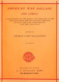 cover for book American War Ballads and Lyrics, Volume 2 (of 2)