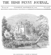 cover for book The Irish Penny Journal, Vol. 1 No. 13, September 26, 1840