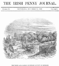 cover for book The Irish Penny Journal, Vol. 1, No. 15, October 10, 1840
