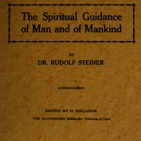 cover for book The Spiritual Guidance of Man and of Mankind