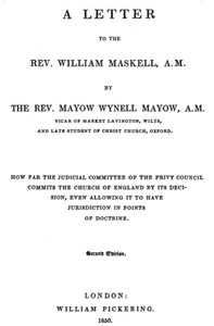 cover for book A Letter to the Rev. William Maskell
