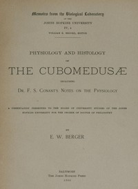 cover for book Physiology and histology of the Cubomedusæ