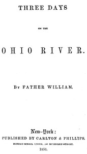 cover for book Three Days on the Ohio River