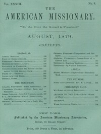 Cover of the book The American Missionary — Volume 33, No. 08, August, 1879 by Various