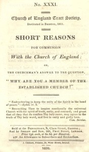 cover for book Short Reasons for Communion with the Church of England