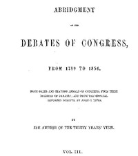 cover for book Abridgement of the Debates of Congress, from 1789 to 1856, Vol. 3 (of 16)