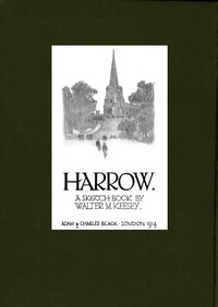 cover for book Harrow; A Sketch-Book