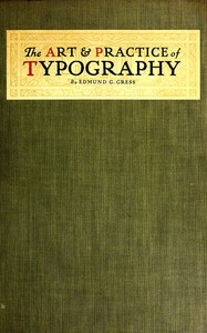 cover for book The Art & Practice of Typography