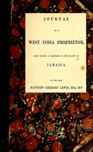 cover for book Journal of a West India Proprietor