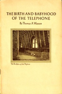 cover for book The Birth and Babyhood of the Telephone
