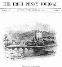 cover for book The Irish Penny Journal, Vol. 1 No. 24, December 12, 1840
