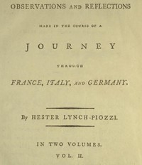 cover for book Observations and Reflections Made in the Course of a Journey through France, Italy, and Germany, Vol. II (of II)