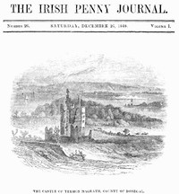 cover for book The Irish Penny Journal, Vol. 1 No. 26, December 26, 1840