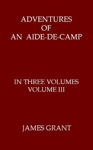 cover for book Adventures of an Aide-de-Camp, Volume III (of 3)