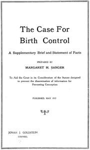 cover for book The Case for Birth Control