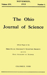 cover for book The Ohio Journal of Science, Vol. XVI, No. 1, November 1915