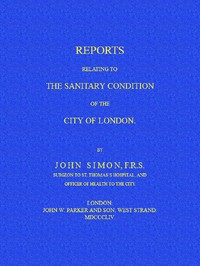 cover for book Reports Relating to the Sanitary Condition of the City of London