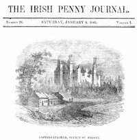 cover for book The Irish Penny Journal, Vol. 1 No. 28, January 9, 1841