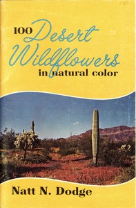 cover for book 100 Desert Wildflowers in Natural Color