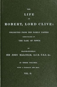 cover for book The Life of Robert, Lord Clive, Vol. 2 (of 3)