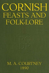 cover for book Cornish Feasts and Folk-lore