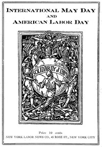 cover for book International May Day and American Labor Day
