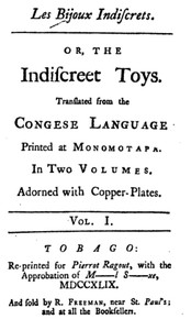 cover for book Les Bijoux Indiscrets, or, The Indiscreet Toys