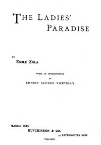 Cover of the book The Ladies' Paradise by Émile Zola