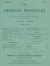 cover for book The American Missionary — Volume 34, No. 06, June, 1880