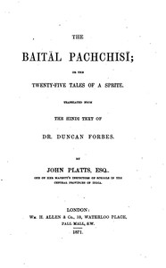 cover for book The Baitâl Pachchisi