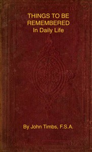 cover for book Things to be Remembered in Daily Life