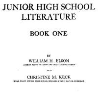 cover for book Junior High School Literature, Book 1