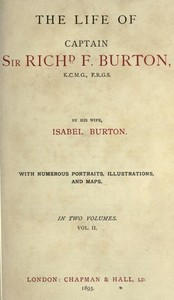 cover for book The Life of Captain Sir Richard F. Burton, volume 2 (of 2)