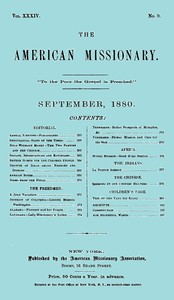 Cover of the book The American Missionary — Volume 34, No. 09, September, 1880 by Various