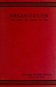cover for book Organisation: How Armies are Formed For War