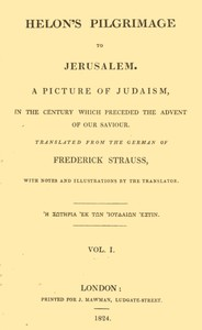 cover for book Helon's Pilgrimage to Jerusalem, Volume 1 (of 2)