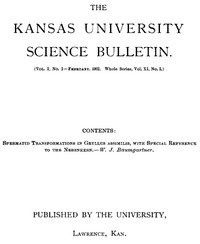 cover for book The Kansas University Science Bulletin, Vol. I, No. 2, February, 1902