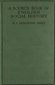 Cover of the book A Source-Book of English Social History by M. E. Monckton (Mary Evelyn Monckton) Jones