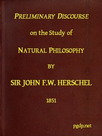 cover for book Preliminary Discourse on the Study of Natural Philosophy