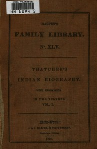 cover for book Indian Biography; Vol. 1 of 2
