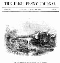 cover for book The Irish Penny Journal, Vol. 1 No. 36, March 6, 1841